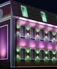 Подсветка фасадов зданий в Ташкенте на заказ